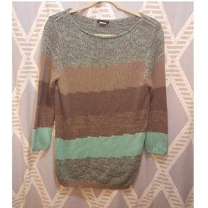 VENUS Striped Over Sized Sweater